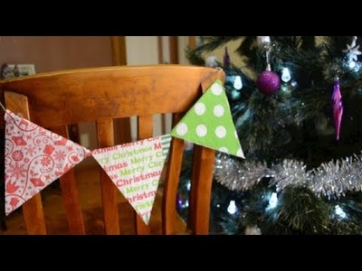 EASY Holiday DIY | No-Sew Bunting made from Napkins!