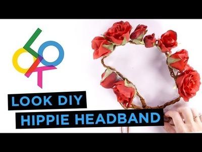 Hippie Floral Crown Tutorial: LOOK DIY