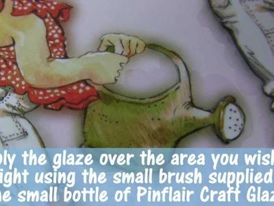 How do I use Pinflair Craft Glaze?