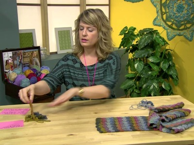 How to Crochet -- Color Wave Scarf Pattern