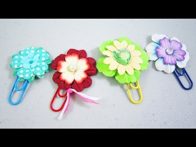 How to make paper flower bookmarks - EP