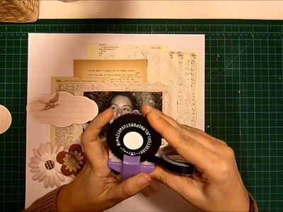 January 2013 YTLH©Beautiful in my way scrapbook layout process