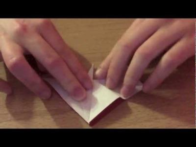 Origami Peace Crane Heart (folding instructions)