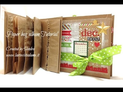 Paper bag mini album Tutorial-DIY-Mini Album Scrapbooking Tutorial-December Daily Structure