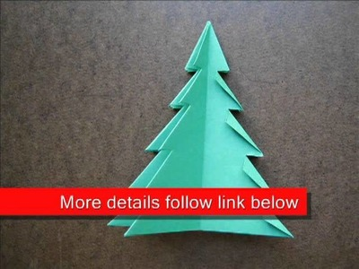 Paper Folding Origami Christmas Tree 1