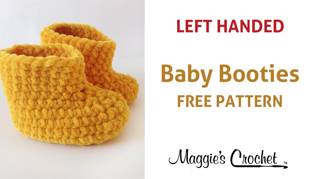 Parfait Baby Booties Free Crochet Pattern - Left Handed