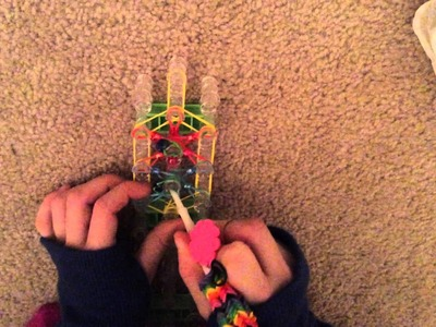 Rainbow Loom Ring with Beads