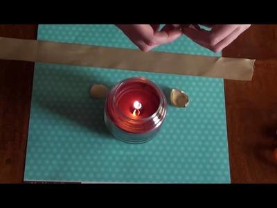 Satin Flower Scrapbook Technique