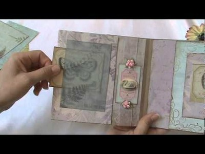 Scrapbook mini album - Feathers and Blooms