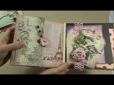Shabby Chic Scrapbook Mini Album