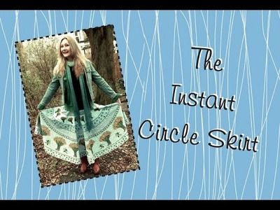 The Instant DIY Circle Skirt: a refashion tutorial