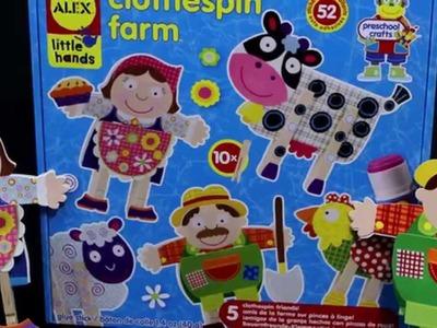 ALEX Toys  Clothes Pin Farm Craft Kit #1511