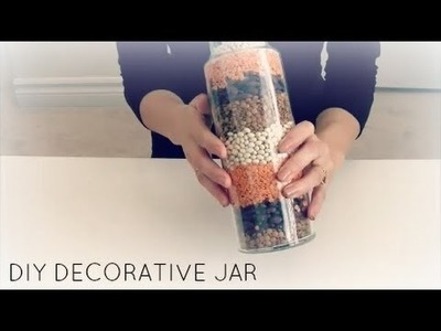 ASMR DIY DECORATIVE JAR Crinkling.Tapping.Whispering.Pouring