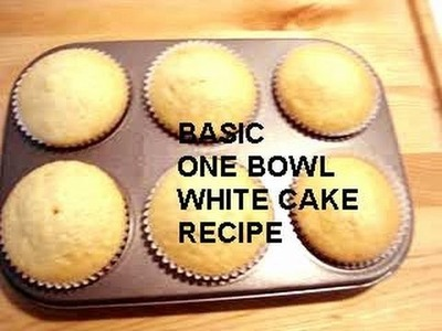 BASIC ONE BOWL WHITE CAKE, how to diy (vegan)