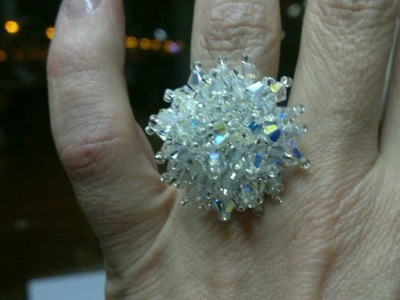 Beading4perfectionists : Absolute beginners Swarovski ring tutorial