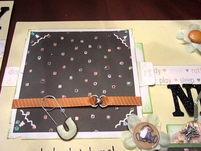 Beary Big News 2 page baby tear bear scrapbooking layout pages boy or girl