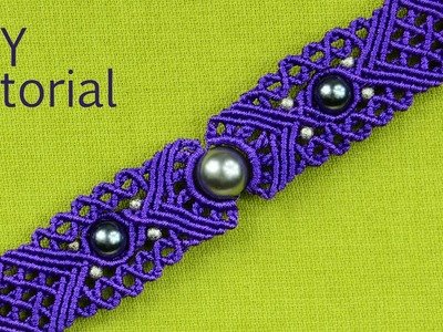 Big Eye Macrame Bracelet Tutorial