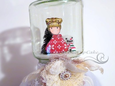 Captured Gorjuss Girl Waterless Snow Globe