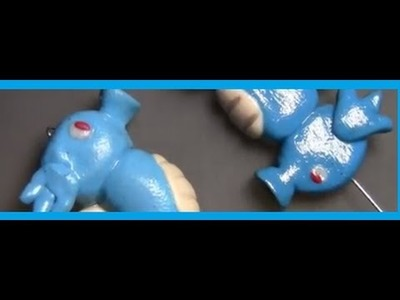 Clay Pokemon Horsea - Seahorse Charm - Tutorial