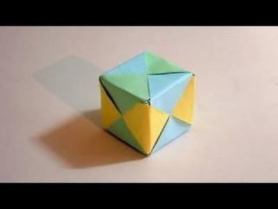 Como hacer un cubo de papel (origami) #1 | By JEGPK