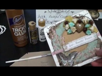 Crackeled Paint Tutorial and Scrapbook Mini Album Sneek Peek