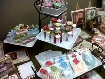 CRAFT FAIR  showing of my table set up.