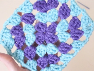 Crochet for beginners : Easy method for joining new colours to a granny square