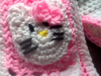 Crochet Hello kitty beanie and Scarf F.O.T.H.