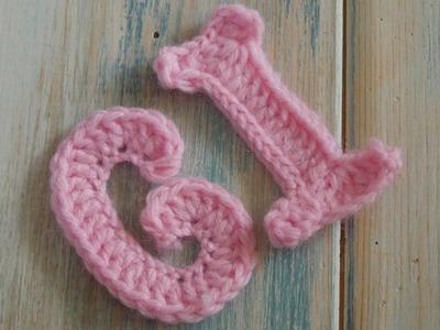 (crochet) How To Crochet Letters G, I - Crochet Extras