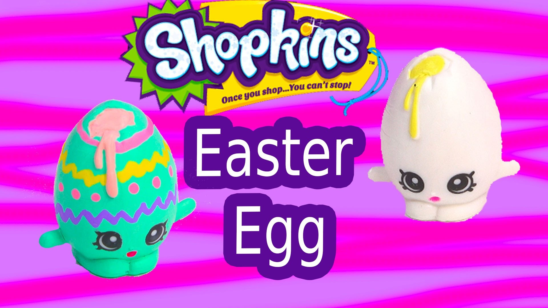 Custom Shopkins Season 1 Pastel EASTER EGG Googy Painting DIY Craft Toy Cookieswirlc Video