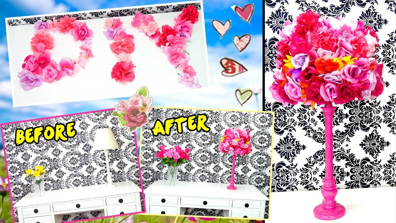 ❀ Cute DIY Flower Lamp For Spring & Summer! ❀