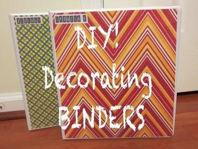 DIY! Decorating Binders ❖ Back to School 2013