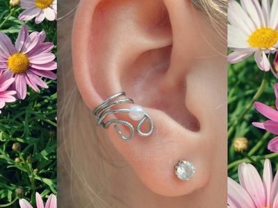 DIY: Ear cuff. made from a paper clip