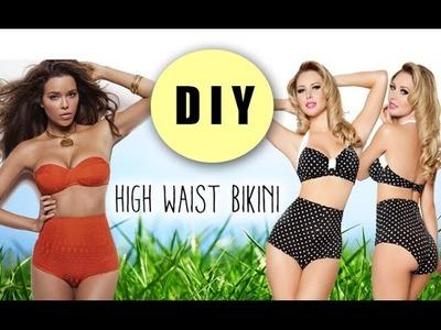 DIY High Waist Bikini Bottoms (pattern included)