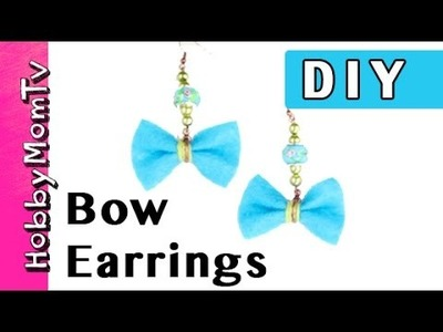DIY How to Make Bow Earrings | Jewelry Tutorial by HobbyMomTV