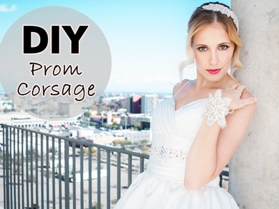 DIY Prom Corsage : Floral Corsage Alternative - The bling Factor