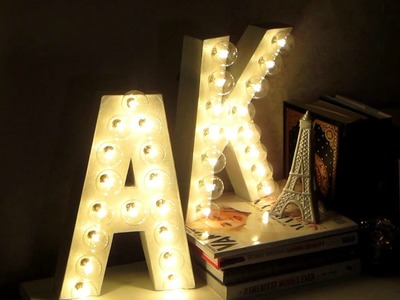 DIY Room Decor! Letter Marquee Lights!