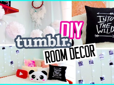 DIY Tumblr ROOM DECOR! DIY Polaroids, Urban Outffiters pillow & more!