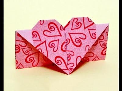 Easy Envelope with heart. Gift for Easter.  Origami envelope.