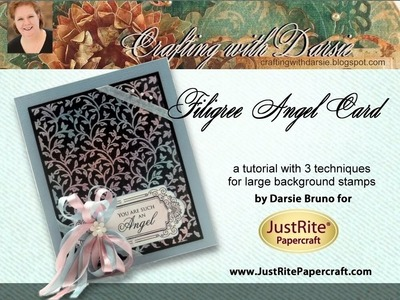 Filigree Angel Card by Darsie Bruno for JustRite Papercraft