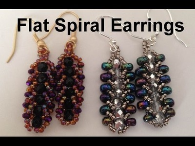 Flat Spiral Earrings--Beginner Tutorial