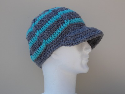 Hat Brim. Peak Crochet Tutorial