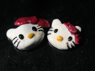 Hello Kitty Charm (DIY) (Polymer clay)