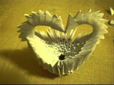 How to make 3D origami - Heart basket