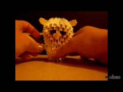 How to make 3d origami sheep