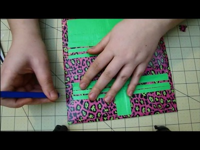 How to make a Duct tape Women's Wallet tutorial DIY - Part 2