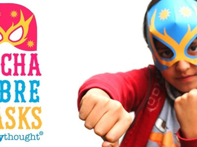 How to make a Lucha Libre mask - tutorial + free printable paper template!