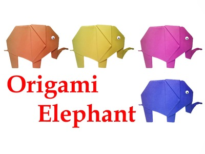 How to make Origami Elephant ( very easy ) : DIY Crafts