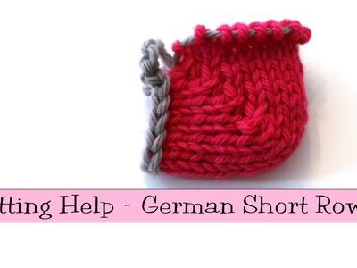 Knitting Help - German Short Rows