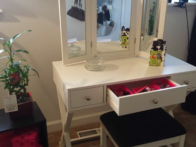 My New Thrifted Makeup Vanity!